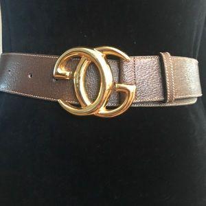 Authentic Gucci GG signature belt